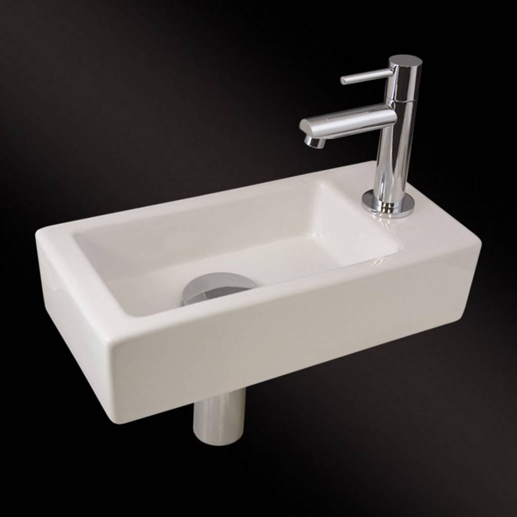 Mini Fontein Toilet.Adw Design Fonteinset Mini Block One Pack Rechts 36x18cm