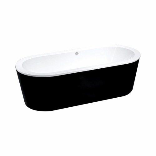 ADW Design Vrijstaand Ligbad Black & White 178X80X55Cm