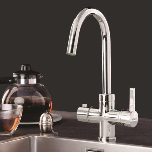 Dekker Kokendwaterkraan Selsiuz Rond Chroom (Inclusief Boiler)