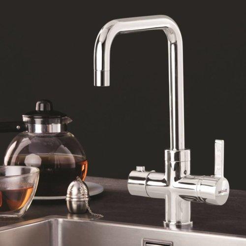 Kokend waterkraan Selsiuz Haaks Chroom (Inclusief Boiler)