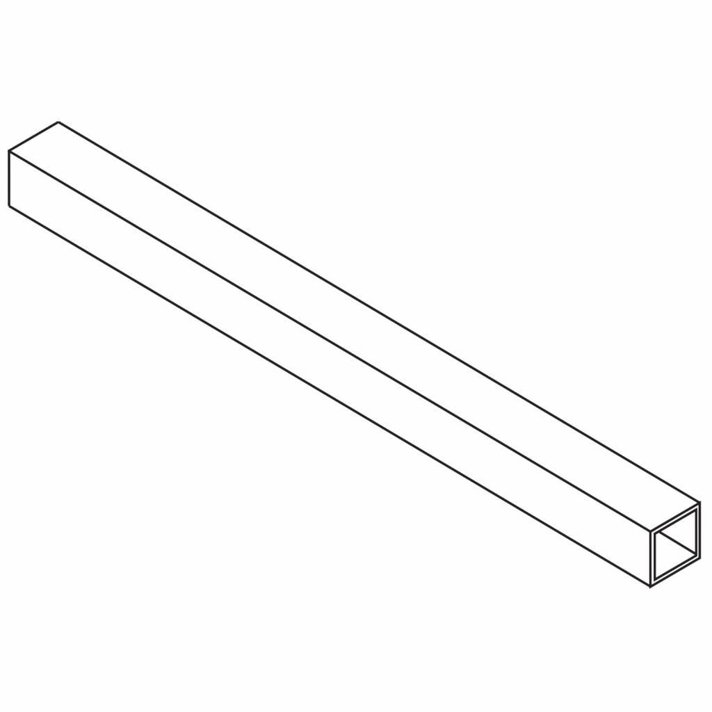 Get Wet by Sealskin Stabilisatiestang Custom Verlengde Buis 125 cm Zilver Hoogglans