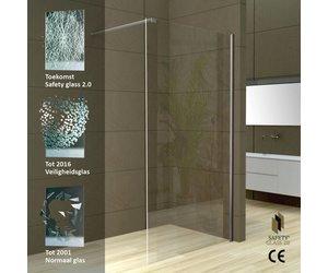 Inloopdouche Met Kraan : Aqua splash safety glass inloopdouche muurprofiel mm nano
