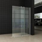 Aqua Splash Wiesbaden Verleng-Inloopdouche 100x200 cm op Rail 10mm NANO Glas