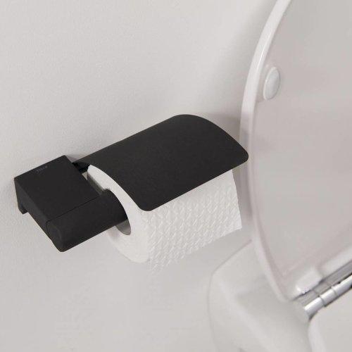 Toiletrolhouder Bold Met Klep Zwart