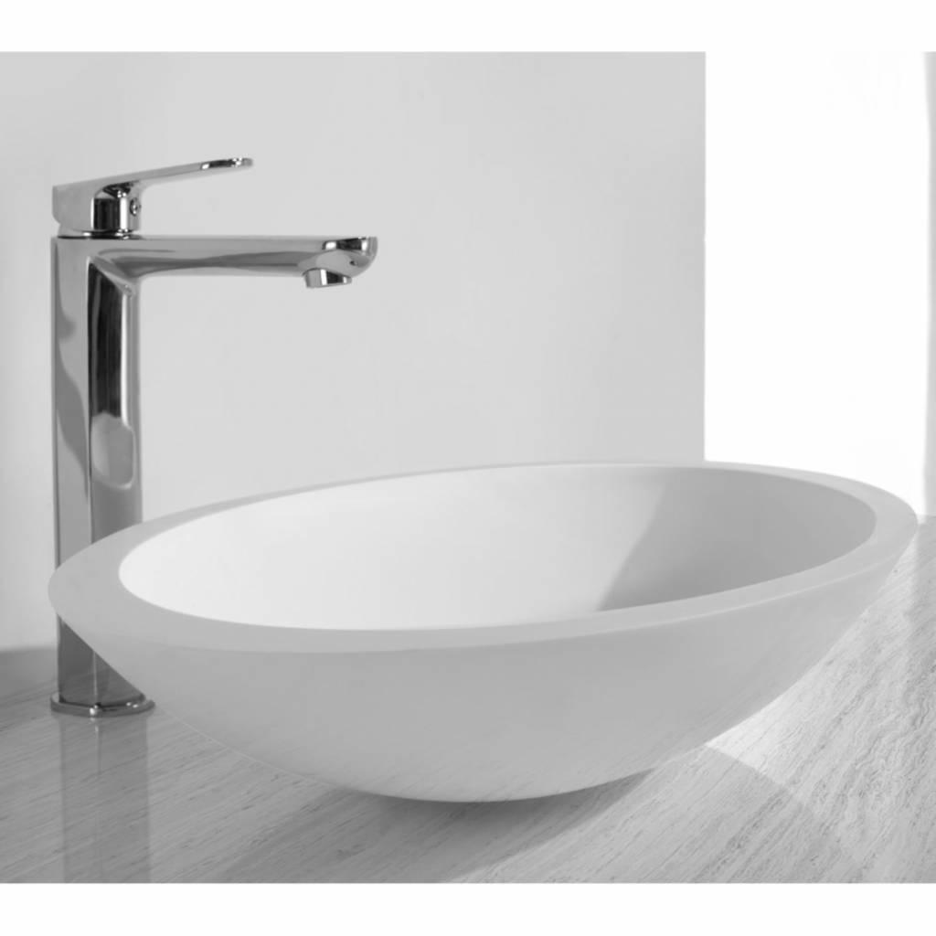 Opzetfontein Solid Surface Rond 59X35X11 cm Aqua Splash