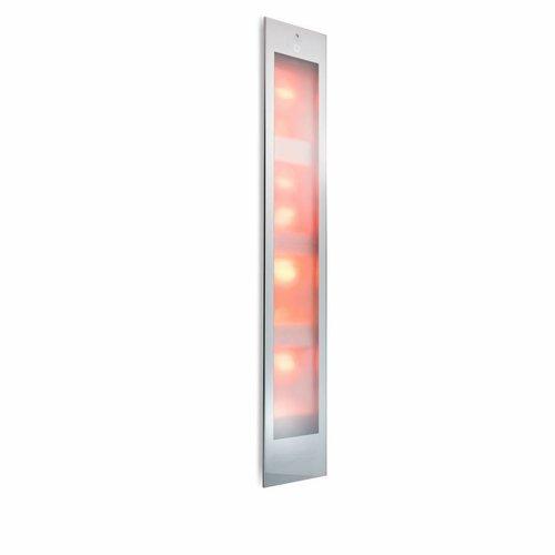 Sunshower Deluxe White UV en Infrarood Inbouwapparaat 32x187x16 cm Aluminium