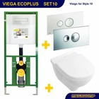 Viega EcoPlus Toiletset 10 Villeroy & Boch O.novo / Visign for Style 10 drukplaat
