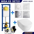Wisa XS Toiletset 22 V&B Subway 2.0 met Argos of Delos drukplaat