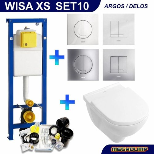 Xs Toiletset 10 Villeroy & Boch O.Novo Met Argos/Delos Drukplaat
