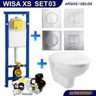 Wisa XS Toiletset 03 Megasplash Basic Smart met bril en drukplaat