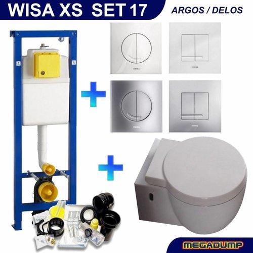 Xs Toiletset 17 Aqua Splash Amor Met Softclose Bril En Argos/Delos Drukplaat