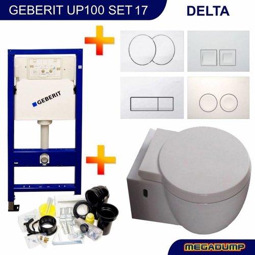 Up100 Toiletset 17 Aqua Splash Amor Met Delta Drukplaat