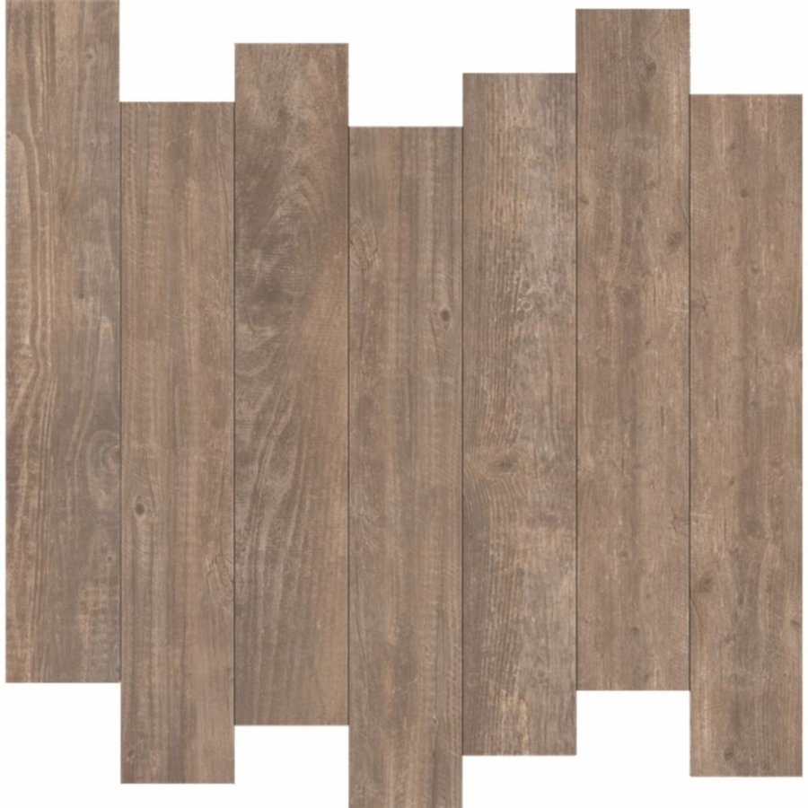 Vloertegel Keope Soul Walnut 25x150 cm Per m2