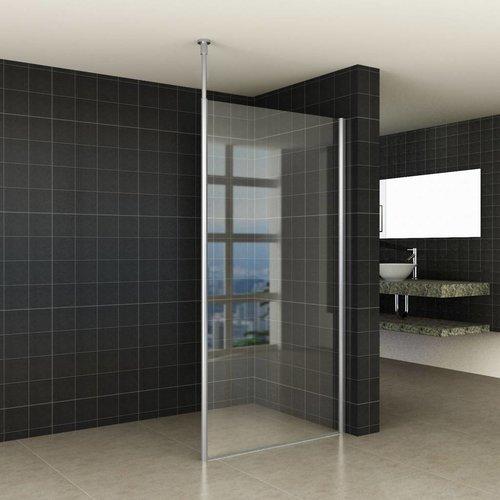 Aqua Splash Verticale Stabilisatiestang met Plafond Bevestiging Chroom voor 10 mm