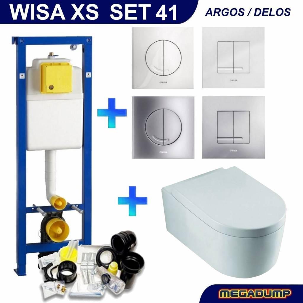 Xs Toiletset 41 Aqua Splash Arco Diepspoel Met Argos/Delos Drukplaat