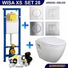 Wisa XS Toiletset 28 Creavit TP325 Wit met softclose zitting