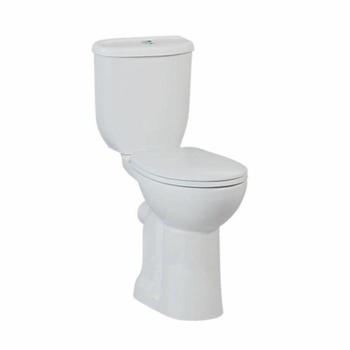 Toiletpot Staand Verhoogd +8 Cm Wit Compleet (Pk)