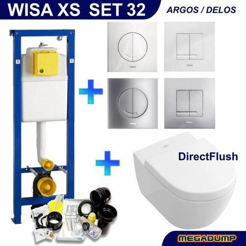 Wisa XS Toiletset 32 Villeroy & Boch Subway 2.0 DirectFlush met bril en drukplaat