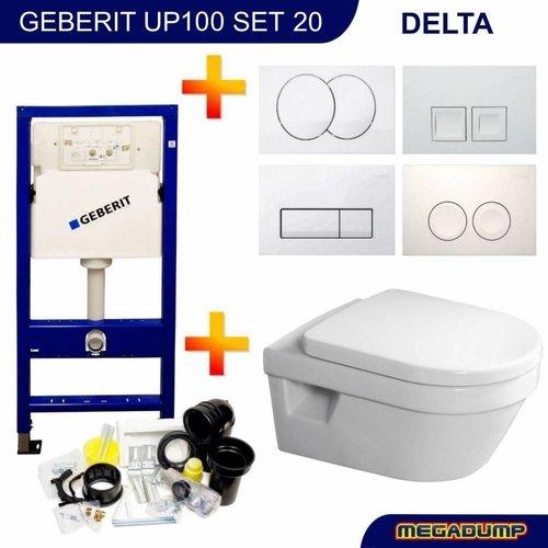 Geberit UP100 Toiletset 20 Villeroy & Boch Omnia Architectura DirectFlush met bril en drukplaat