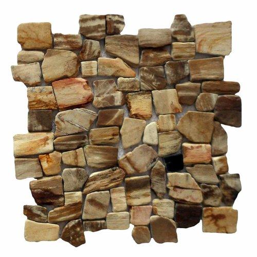 Stabigo Mozaïek Hout Petrified Wood 30x30 cm (Prijs per 1m²)