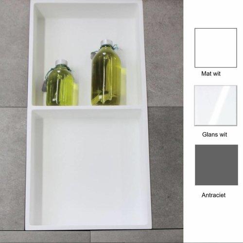 Luca Inbouwnis 59.5x29.5x8 cm met 2 Schappen (in 3 kleuren verkrijgbaar)