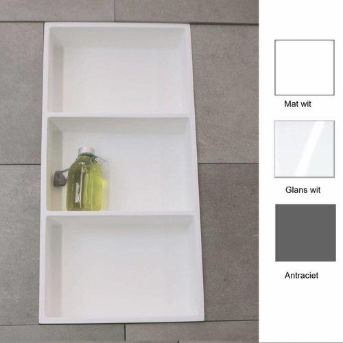 Inbouw nis 59.5X29.5X8 Cm Met 3 Schappen (In 3 Kleuren Verkrijgbaar)