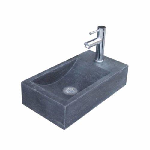 Aqua Royal Hardsteen Fontein Set Recto Rechts Rechthoek 40X22X10 Cm