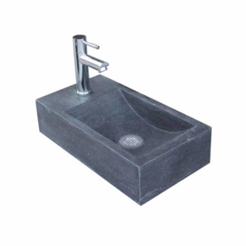 Aqua Royal Hardsteen Fontein Set Recto Links Rechthoek 40X22X10 Cm