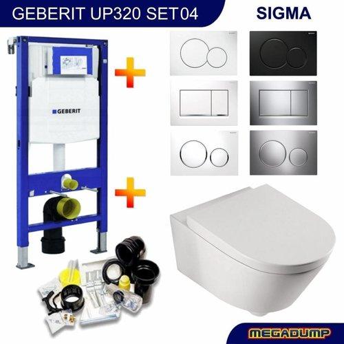 Geberit UP320 Toiletset 04 Wiesbaden Metro met bril en drukplaat