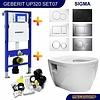 Geberit Toiletset 07 Up320 Aqua Splash Prio Rimfree Met Sigma Drukplaat