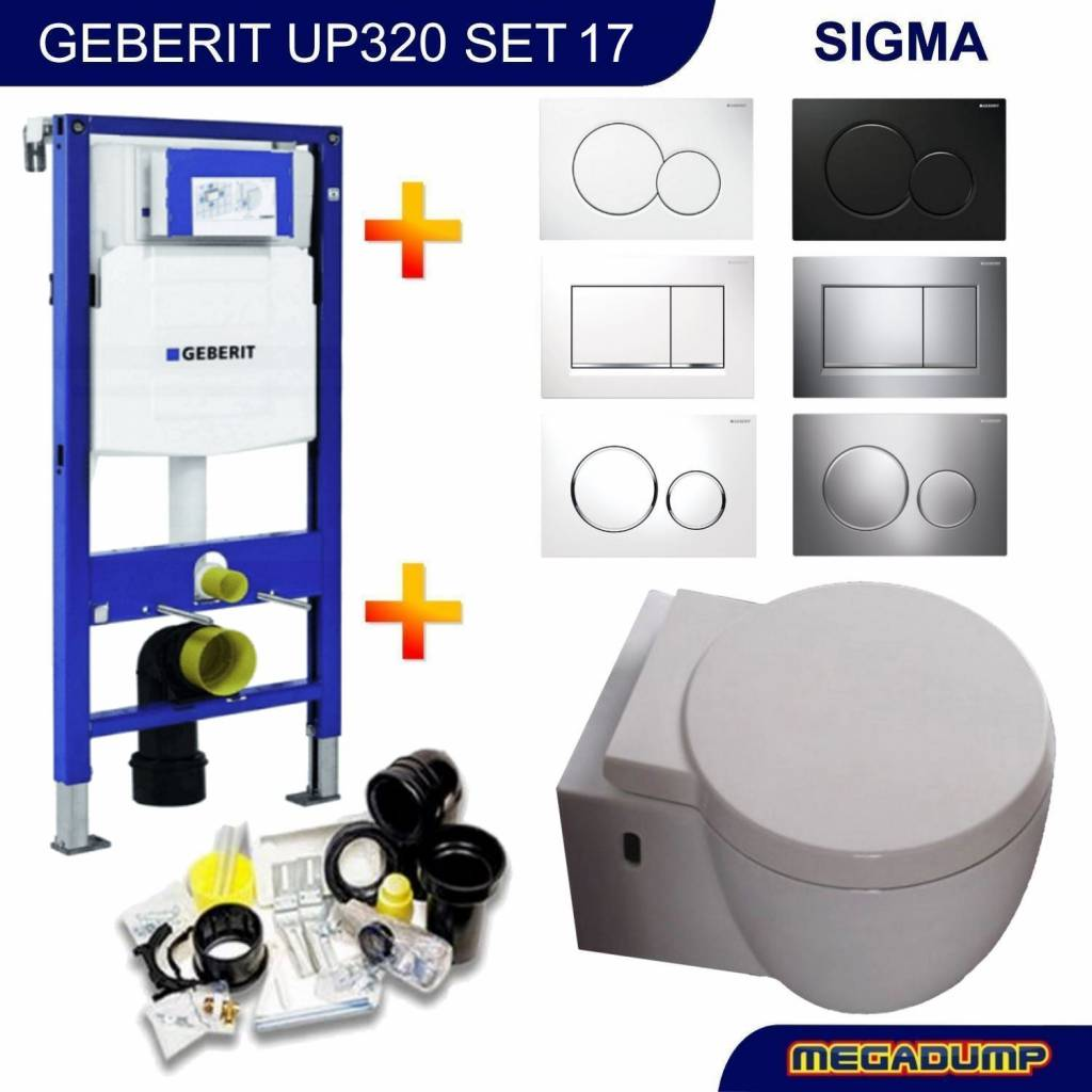 Up320 Toiletset 17 Aqua Splash Amor Met Sigma Drukplaat
