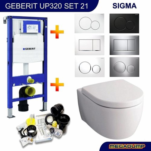 Up320 Toiletset 21 Geberit Sphinx 345 Rimfree Met Bril En Drukplaat