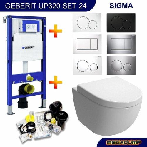 Up320 Toiletset 24 Aquasplash Zero Diepspoel Met Sigma Drukplaat