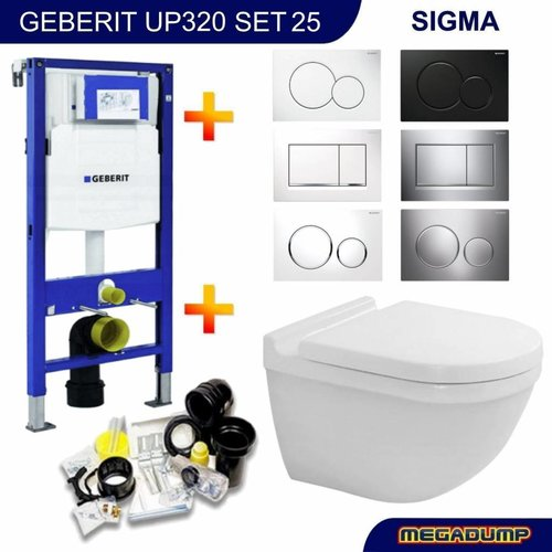 Geberit Up320 Toiletset 25 Duravit Starck 3.0 Met Bril En Drukplaat