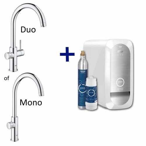 Grohe Bruisendwater Keukenkraan Blue Home Starterkit Chilled En Sparkling Water Mono Of Duo (Chroom Of Rvs)