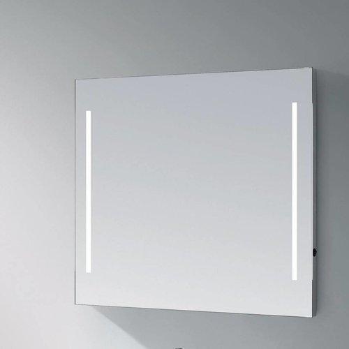 Sanitop Spiegel Deline Led Verlichting Aluminium Geborsteld (In 6 Maten)