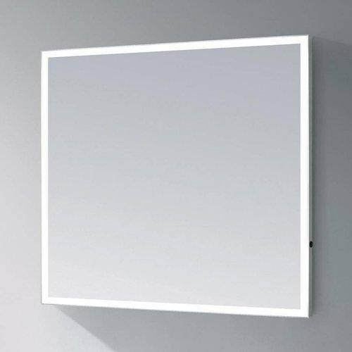 Sanitop Spiegel Edge Led Verlichting Aluminium Geborsteld (In 9 Maten)