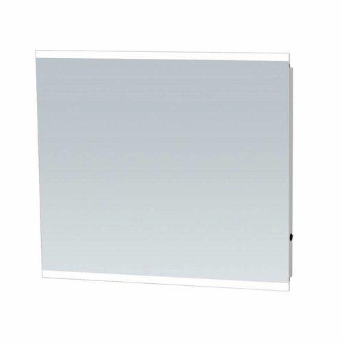 Sanitop Spiegel Twinlight Aluminium Geborsteld (In 7 Maten)