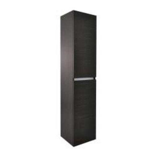 Luna kolomkast 2 deuren 160x35x35 houtnerf grijs