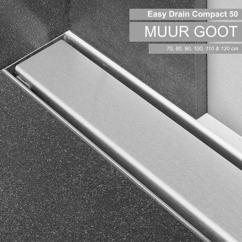 RVS Douchegoot Compact 50 Muurgoot Zero 70 t/m 120cm