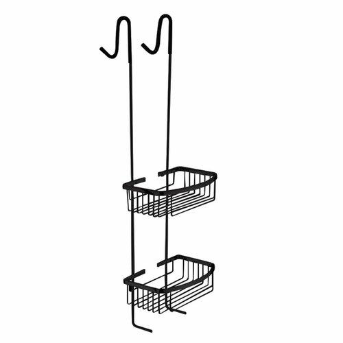 Ophangrek Nero Voor douchewand RVS Zwart 80cm hoog