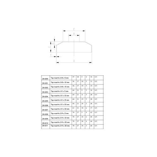 Chroom Kraanrozet 3/8X15Mm