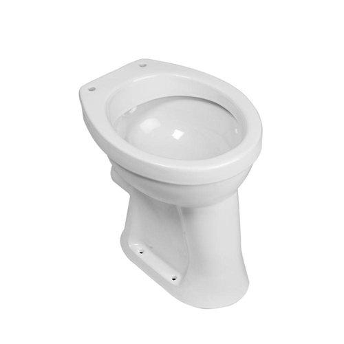Staande Verhoogde Toiletpot Vlakspoel Wit