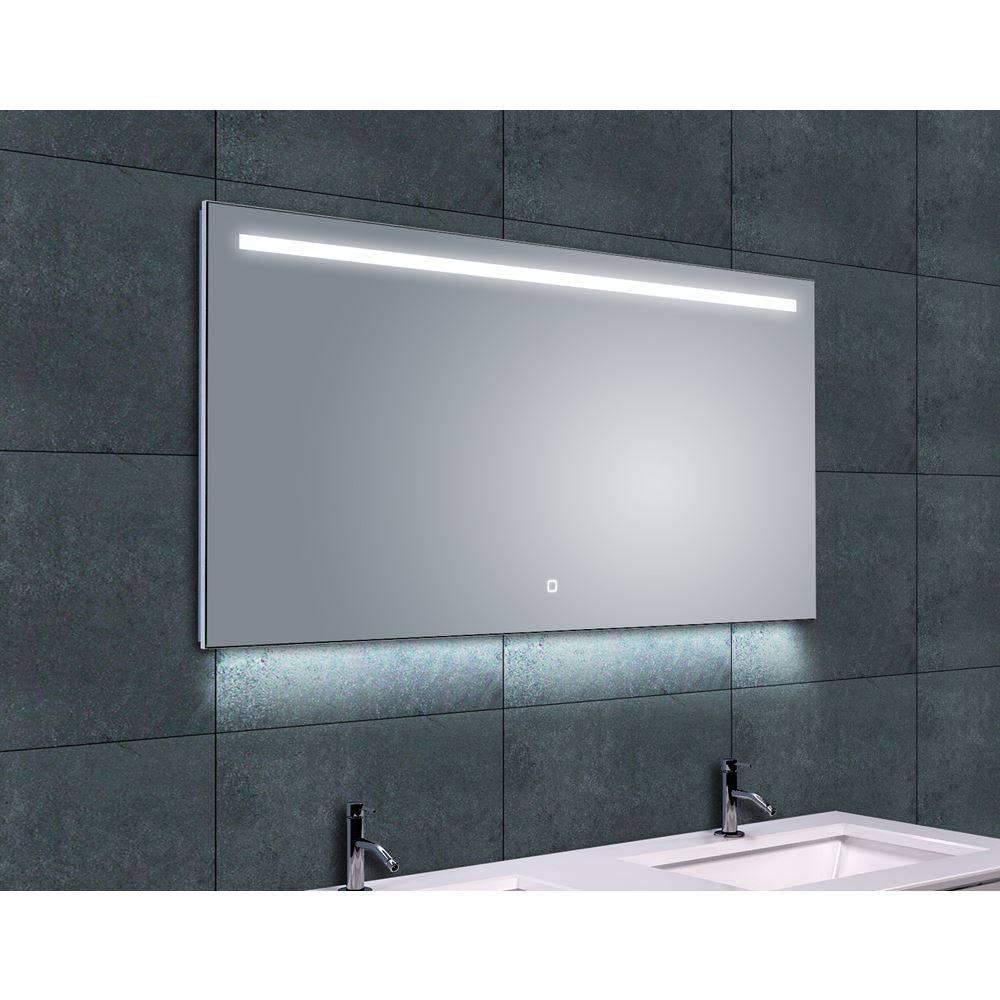 aqua splash ambi condensvrije spiegel 120 x 60 cm met dimbare led verlichting megadump tiel. Black Bedroom Furniture Sets. Home Design Ideas