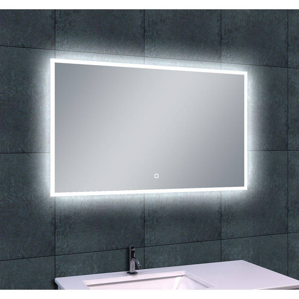 aqua splash quattro dimbare led spiegel 100x60cm spiegels megadump tiel. Black Bedroom Furniture Sets. Home Design Ideas