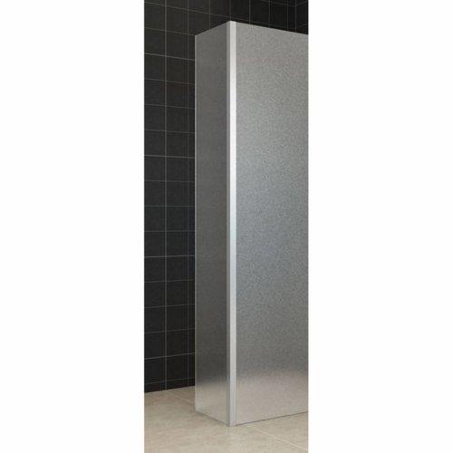 Zijwand Mat Glas met Hoekprofiel 35x200 10mm NANO