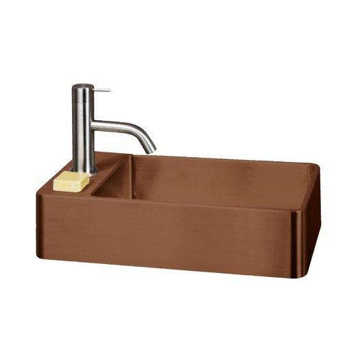 Fontein Lanesto Vanity 22x40x10 cm RVS Copper (excl kraan incl waste)