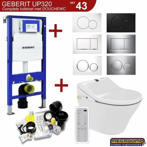 UP320 Toiletset 43 Maro D'Italia DI600 Douchewc Met Wandcloset En Drukplaat