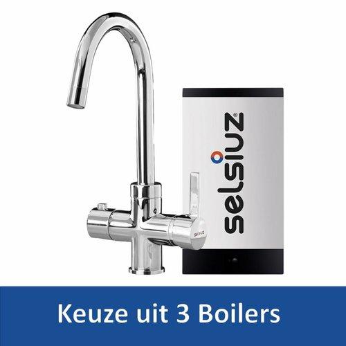 Kokendwaterkraan Rond Chroom Inclusief Boiler (Keuze uit 3 boilers)