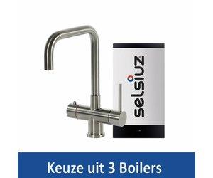 Kokendwaterkraan selsiuz steel haaks inclusief boiler keuze uit